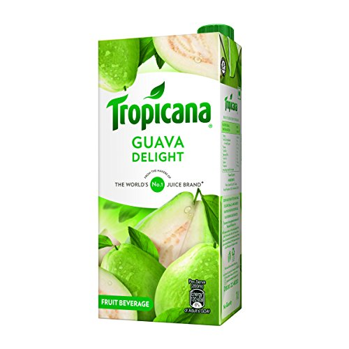 Tropicana Guava Delight, 1000ml  available at amazon for Rs.81
