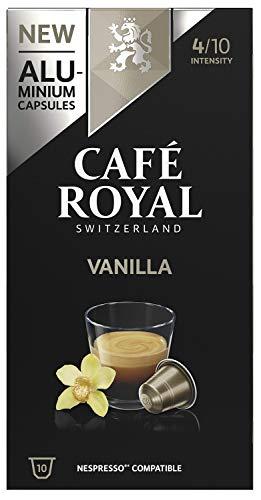 Café Royal 50 Vanilla Flavoured Edition Nespresso (R)* kompatible Kapseln aus Aluminium - Intensität 4/10 - 50 Kaffeekapseln (5 x 10 Pack) - UTZ - Kompatibel mit Nespresso (R)* Kaffeemaschinen