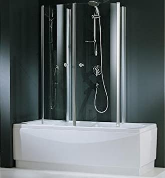Duschkabine badewanne  Novellini Aurora 4 Duschkabine für Badewanne 70x150cm, Echtglas ...