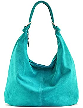 OH MY BAG - Leder Damen Handtasche - Tragbar als HANDTASCHE UND SCHULTER ? Modell Love - Nubuck Leder