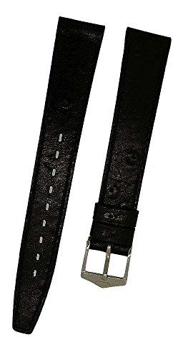 Orig.FORTIS Uhrenarmband LEDER schwarz mit schwarzer Naht 14mm 8821