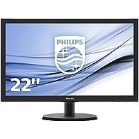 "Philips Monitores 223V5LHSB2/00 - Monitor de 21.5"" (resolución 1920 x 1080 pixels, tecnología WLED, contraste 1000:1, 5 ms, VGA), color negro"