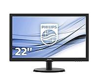 Philips 223V5LHSB2/00 22-Inch LCD/LED Monitor - Black