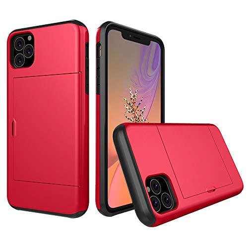 SHRG Adatto per iPhone 11/iPhone 11 PRO/iPhone 11 PRO Maxconchiglia,TPU Silicone Caso, Anti Scivolo E Antiurto,Rosso,iphone11pro