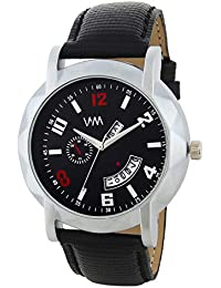 Watch Me Day And Date Luxury Limited Edition Special Quartz Analog Black Dial Black Leather Watch For Men And...