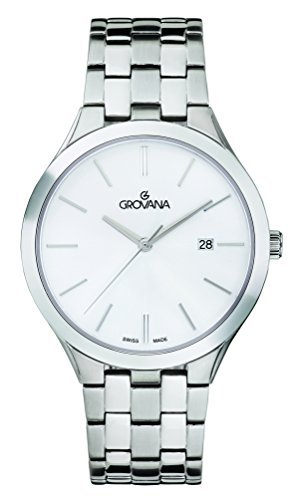 GROVANA Unisex-Adult Analogue Classic Quartz Watch with Stainless Steel Strap 2016.1152