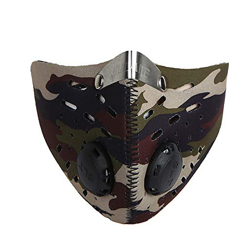 PiPisun Máscara Fresca Máscara de la máscara de Carbono Activado Forrado Bicicleta de montaña...
