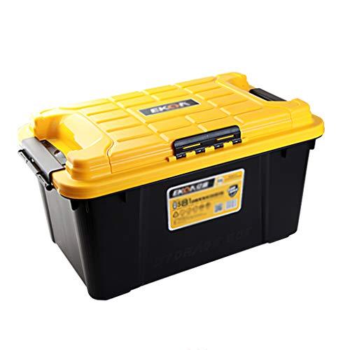 Coffre de Voiture Organisateur Boîte de Rangement pour Voiture Boîte de Rangement Boîte de pêche Boîte de Rangement Boîte de Rangement (Color : Black, Size : 62.5 * 36.8 * 33.5CM)