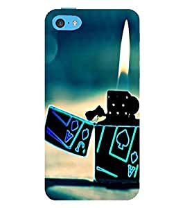 99Sublimation love fire and Lighter 3D Hard Polycarbonate Back Case Cover for Apple iPhone 5c