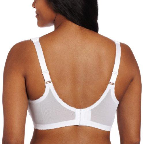 Glamorise Damen BH Nahtloser, stützender T-Shirt mit MagicLift-Design Weiß (Weiss 110)