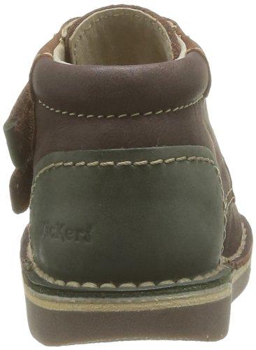 Kickers Workday, Chaussures montantes mixte bébé Marron (Marron Foncé/Vert 93)