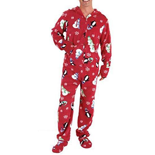 Passende Familie gedruckt Strampler Erwachsene Kinder Overalls Bodys Weihnachten Kostüme für Männer Frauen Jungen Mädchen (Männer Passenden Kostüm)