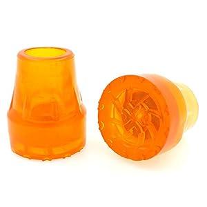 Lifeswonderful® – Gummi-Schutzkappen für Gehstöcke – erhöhte ringförmige Basis (Typ Z) – gut sichtbar – Orange – 19 mm (3/4″)