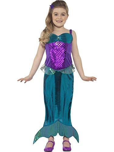 Smiffy's 45478S - Kinder Mädchen Magisches Meerjungfrau Kostüm, Kleid und Haarband, Alter: 4-6 Jahre, grün