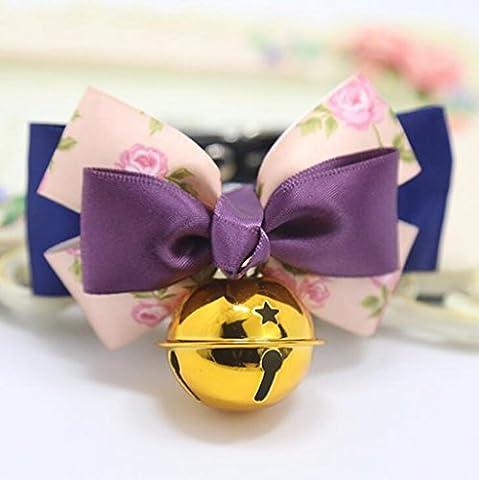 Jingzou Pet dog cat noeud papillon cravate collier Bell