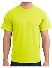 Gildan T-shirt en coton épais -  - New Safety Green - Small