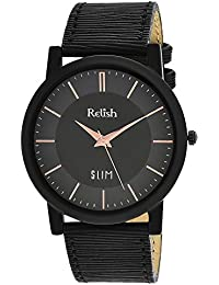 RELISH RE-S805BB SLIM Black Dial Analog Watch For Mens & Boys