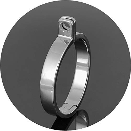 5 Größen zur Auswahl Schloss-Nachfüll-Edelstahl-Ringe für Keuschheitshandwerk Metall Männliche Keuschheit Privatsphäre Game Stil A