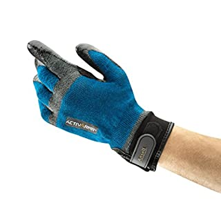 Ansell ActivArmr 97-002 Multi-purpose gloves, mechanical protection, Blue, Size 9 (Pack of 1 pair)