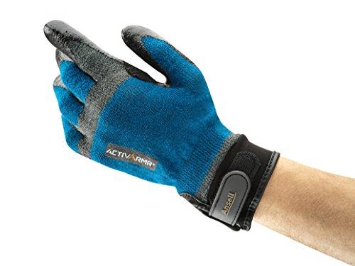Ansell ActivArmr 97-002 Gants pour usages multiples, protection mécanique, Bleu, Taille 10 (Sachet de 1 paire)