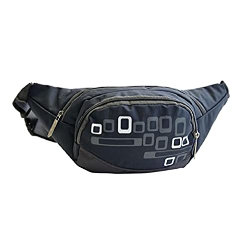 BZLine ® Running Belt Bum Waist Pouch Hip Outdoor Travel Fitness Pack Zip Sports Bag (Dark Blue)