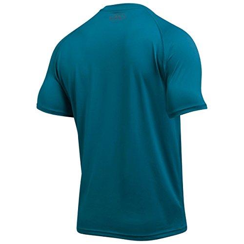 Under Armour Men's Fitness Und Tank Ua Tech Ss Tee Short-Sleeve T-Shirt Bayou Blue