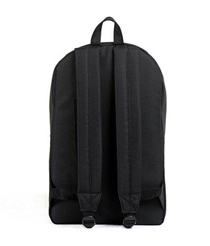 Herschel Parker slimline backpack rucksack with laptop sleeve. New Schwarz (Black Backpack)