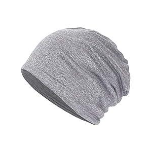 Yuccer Beanie Mütze, Baumwolle Unisex Hat 2-in-1 Skull Cap Halstuch Chemo Hut, Leicht und Weich