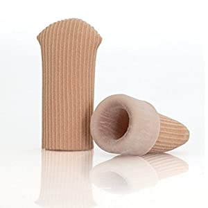 Silikon Zehenschutz mit Kappe | HOCHWERTIGE Qualität | Zehenkappen | Druckschutz | Zehen | Schutz | Kissen | 2er Pack (XS)