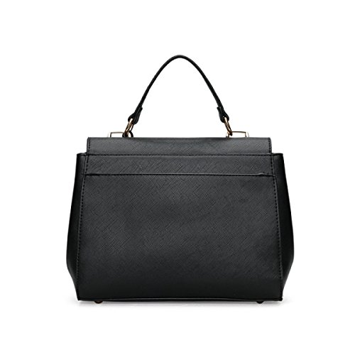Dame Lässig Retro Mode Handtaschen Hand Schulter Kuriertasche Black