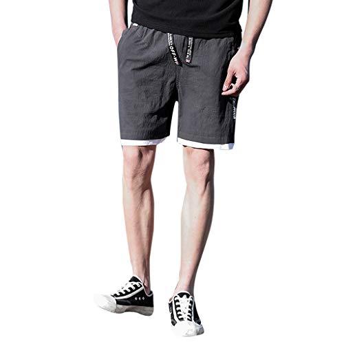 YiYLunneo Shorts Herren Sommer Pure Farbe Draußen Lose Sport Kurz Hose Herren Sport Laufen Joggen Training Shorts Fitness Kurze Dünn Hose Jogging Hosen -