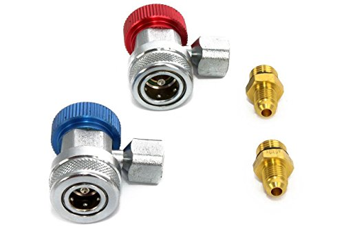 Preisvergleich Produktbild Kältemittel R134a Kfz. Adapter Schnellkupplung Hoch und Niederdruck
