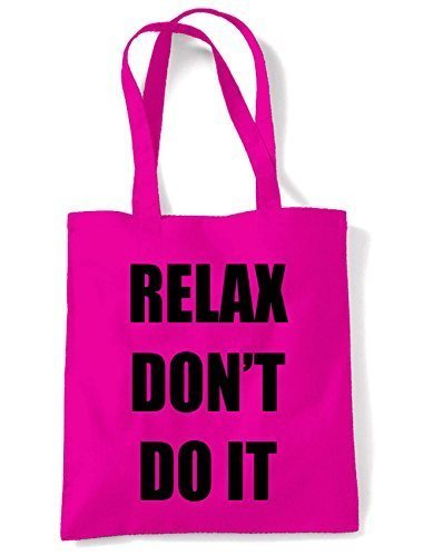 Relax Don't Do It 1980s Party Shoulder Bag - Hot Pink or White