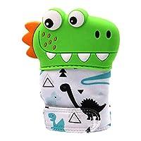 Arichtop Cartoon Dinosaur Baby Teether Gloves Silicone Molar Mitt Infant Children Mittens Kids Teething Gift