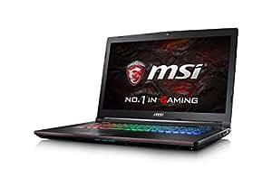 MSI GE72 7RE (Apache Pro) 011UK 17.3 Inch Gaming Laptop (Black) - (Kabylake Core i7-7700HQ, 16 GB RAM, 128GB SSD, 1TB HDD, GTX 1050Ti, Windows 10)