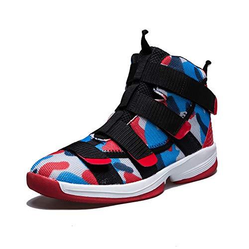 Zapatillas de baloncesto para hombre Zapatillas altas y transpirables Four Seasons Leisure para mujer Zapatilla,Pink,43