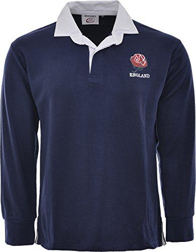England English Retro Rugby Shirts Erwachsene S M L XL XXL 3X L 4X L 5X L Full Sleeve Exklusive, Englnd Rugby Shirts, RUGBY SHIRTS (3 4 Sleeve Shirt-logo)
