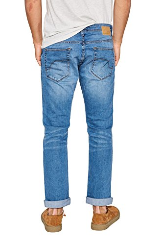 edc by ESPRIT Herren Straight Jeans Blau (Blue Light Wash 903)