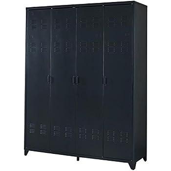 camden armoire vestiaire style industriel en metal laque. Black Bedroom Furniture Sets. Home Design Ideas