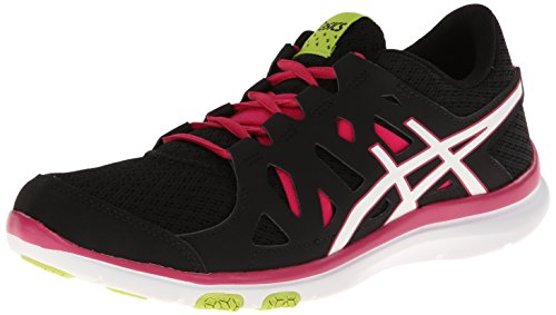 Asics s464 N da donna Gel-Fit Tempo Scarpe Black/White/Hot Pink