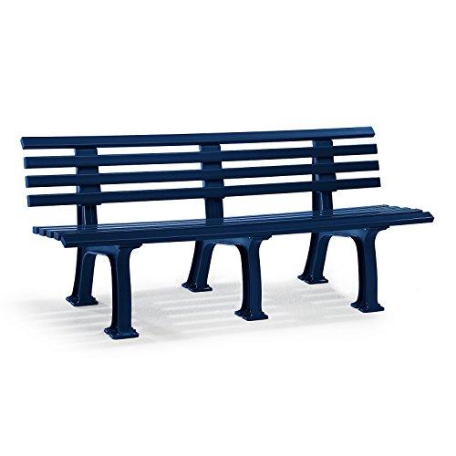 Parkbank aus Kunststoff – mit 9 Leisten – Breite 1500 mm, weiß – Bank Bank aus Holz, Metall, Kunststoff Bänke aus Holz, Metall, Kunststoff Gartenbank Kunststoff-Bank Kunststoff-Bänke Ruhebank - 9