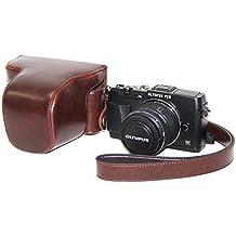 MegaGear MegaGear - Funda para cámara réflex Olympus PEN E-P5, marrón