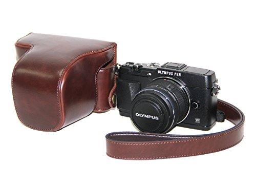''Ultra Light'' Braun Protective Kamera Wasserdichte Tasche für Olympus PEN E-P5 + 17mm + 14-42mm II R EP5