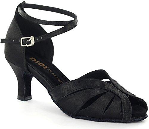 DSOL CLASSICLatin dance Sandal DC271303/DC271308 - Ballroom donna Nero (nero)