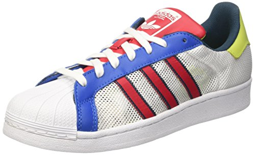 adidas Superstar, Sneakers basses homme Blanc (Footwear White/Bold Red/Utility Green)