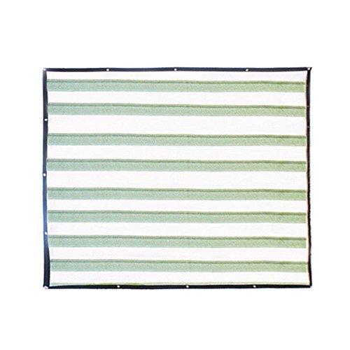 Xueliee Sun Shade Sail Sonnendach Schatten in verschiedenen Größen und Farben–98{84ac3495067f9b7bca200cb1a80dbf24ea546ec311e65f0310168d5a2d0e2db9} UV-protectiom, A5 Green and White 2 M X 4 M, 2*4m