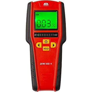 ADA Humidity Detector ZFM 100-4, Non-Contact Pinless Digital Moisture Meter. Wood Timber Wall plasterboard Moisture Measurement, with LCD Screen