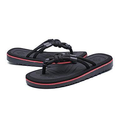 Slippers & amp da uomo;Pelle laccio dietro leggera estiva Soles microfibra esterna casuale Tallone piano sandali US10 / EU43 / UK9 / CN44