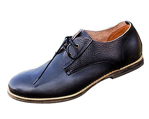 Insun , Chaussures de ville à lacets pour garçon - noir - noir, 4.5 UK