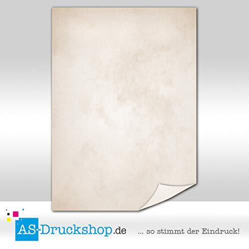 Papiro/pergamena-marrone chiaro lavato/100fogli di carta/din a5/90g di offset